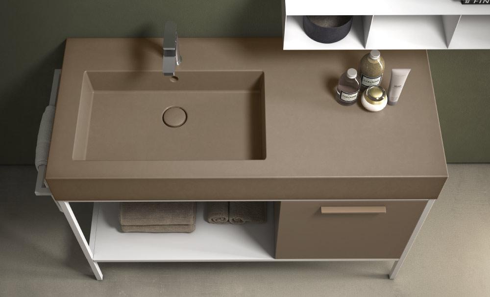 Vasca Da Bagno Globo : Ceramica globo forty lavabo sospeso su mobile con vasca